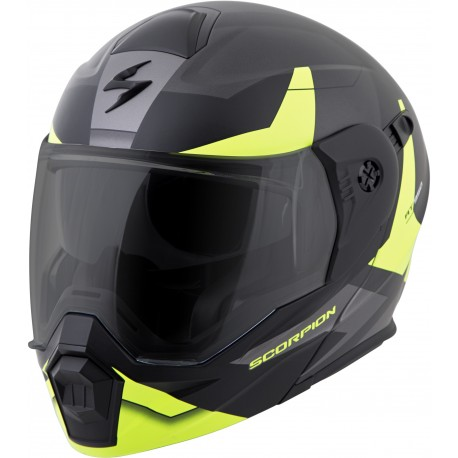 Casco Scorpion EXO-AT950 Modular Negro/Neon