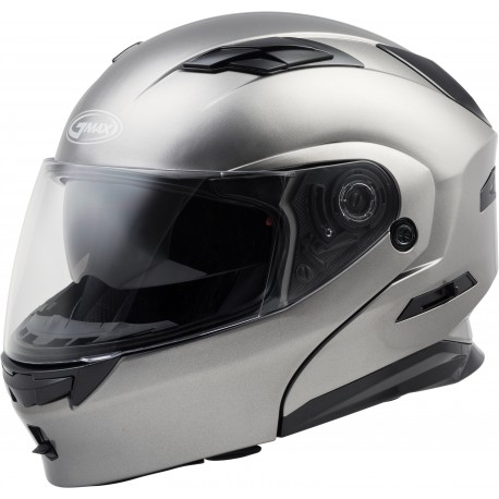 Casco Gmax Modular MD-01 con LED Titanio