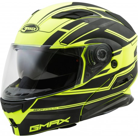 Casco Gmax Modular MD-01 con LED Neon