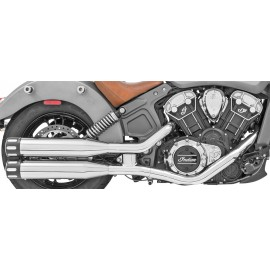 "Colas Freedom Eagle 4"" Cromo Punta Negro, Indian Scout"